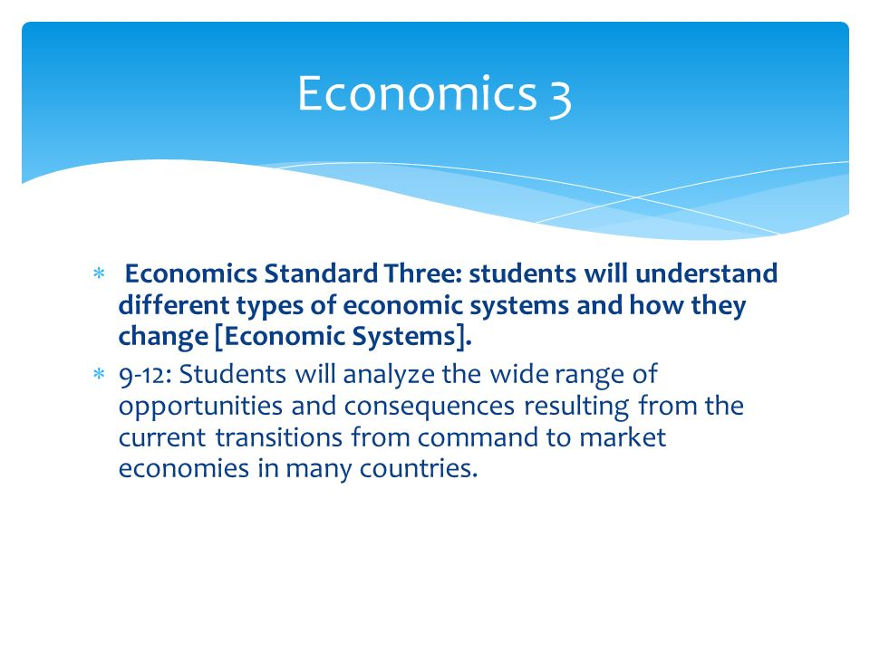 understanding economics and the three basic types of economic systems Distinguish the types of economic systems widely considered the founder of modern economics each nation has the three branches of government with which.